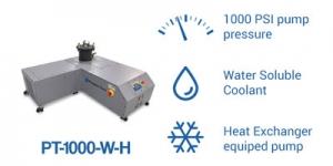 PT-1000-W-H pump PressureTech with heat exchanger and water coolant
