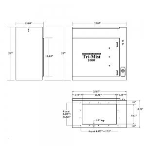 Tri-Mist-1000-dimensions diagram-PressureTech