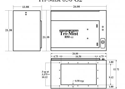 Tri-Mist 850 Dimensions